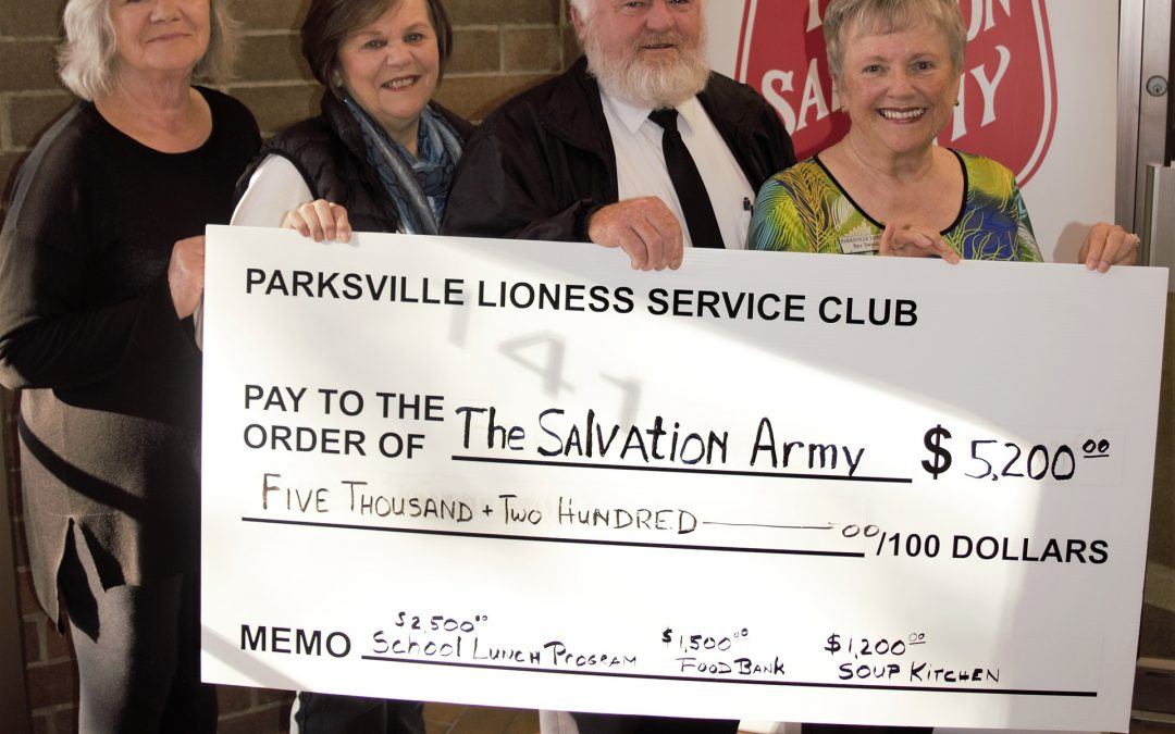 Parksville Lioness Club Focuses on Food Security